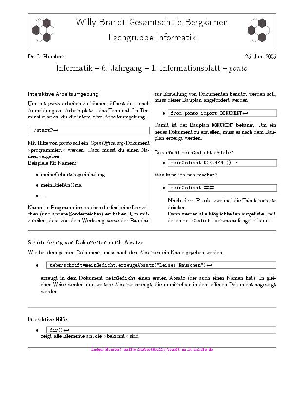 Zeitung der Informatikfachseminare Hamm Arnsberg: LaTeX – Teil 2 ...